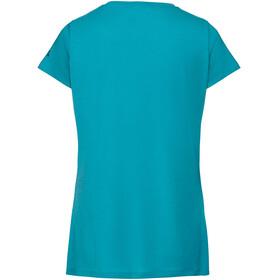 VAUDE Gleann V - Camiseta manga corta Mujer - azul